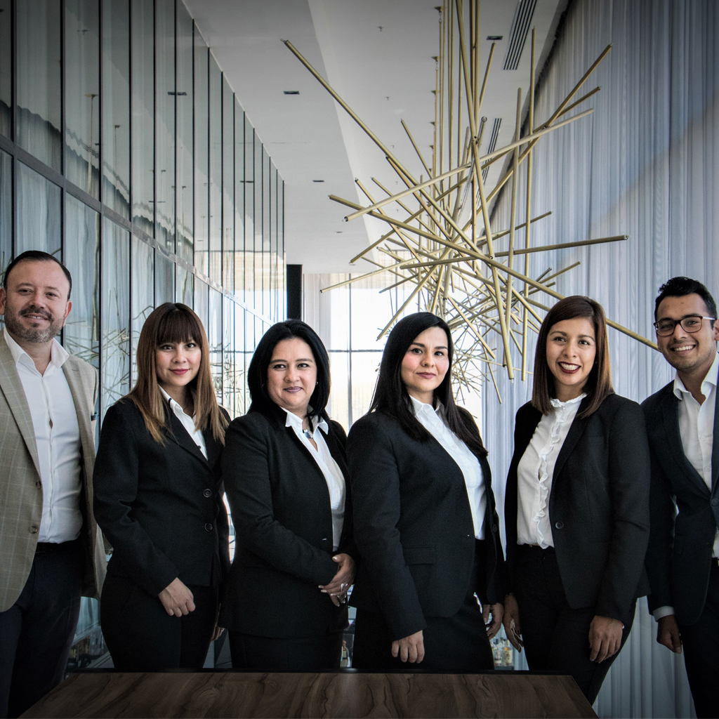 Diverse team of employees